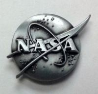 NASA Official Vector Lapel Pin Silver Edition